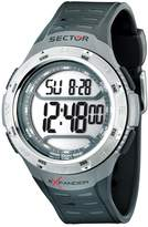 Sector Men's Digital Watch with LCD Dial Digital Display and Black PU Strap R3251172008