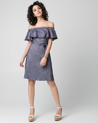 Le Château Chambray Off-the-Shoulder Dress