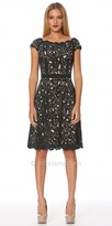 NUE by Shani Scalloped Laser Cut Fit and Flare Dress