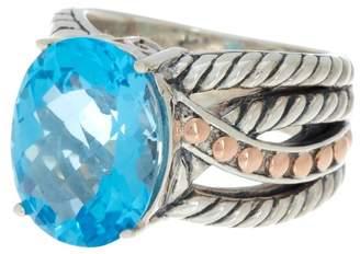 Effy Sterling Silver Blue Topaz Ring - Size 7