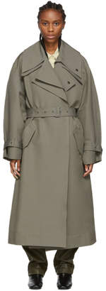 Low Classic Khaki Belted Trench Coat