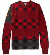 Lanvin Distressed Intarsia Wool Sweater
