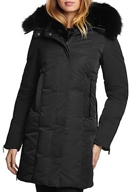 Dawn Levy Luna Fur Trim Down Coat