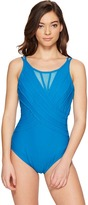 Miraclesuit Solid Highneck One-Piece Women's Swimsuits One Piece