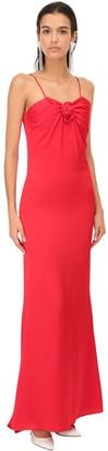Alessandra Rich Satin Long Dress