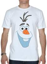 Disney Frozen Olaf Big Face Smiling T-shirt (XXXL,White)