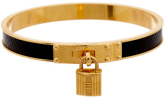 Hermes Gold-Plated Lizard Leather Kelly Bangle