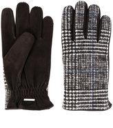 Lardini plaid fitted gloves