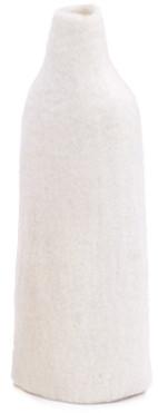 Casanova Store - Tall White Felt Vase Cover - white - White/White