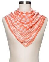 Merona Women's Fashion Gingham Check Scarf - Coral
