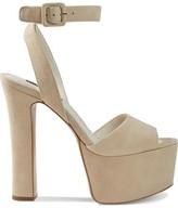 Alice + Olivia Reeta Suede Platform Sandals
