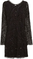 Antik Batik Lora bead-embellished tulle dress