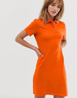JDY polo jersey dress-Orange