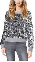 Michael Kors Sequined Cotton-Blend Sweater