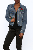 Flying Tomato Denim Embroidered Jacket