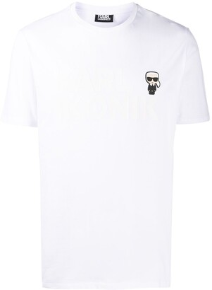 Karl Lagerfeld Paris patch cotton T-shirt