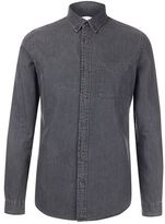 Burton Mens Charcoal Long Sleeve Denim Shirt