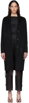 Acne Studios Black Wool Single-Breasted Coat