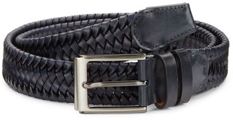 Saks Fifth Avenue COLLECTION BY MAGNANNI Braided Leather Belt