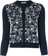 Oscar de la Renta bead embroidered cardigan