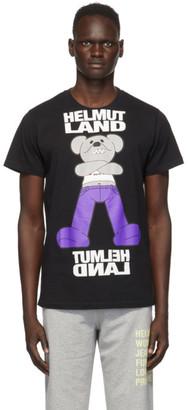 Helmut Lang Black Helmut Land Mascot Standard T-Shirt