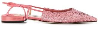 Jimmy Choo Gemista slingback flat shoes