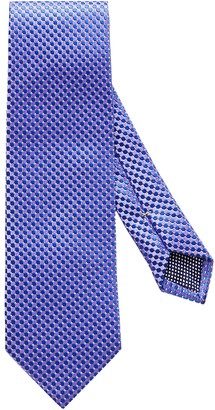 Eton Purple Geometric Silk Tie