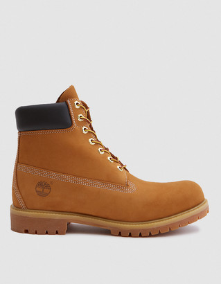 Timberland Men's 6 in. Premium Boot in Wheat Nubuck, Size 7 | Leather