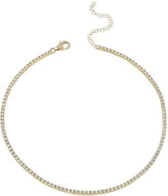 Shay 18k Yellow Gold Pave Diamond Tennis Necklace