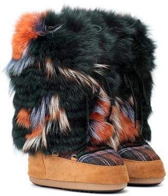 Yves Salomon x Moon BootA fur ankle boots