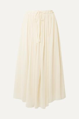 Forte Forte Silk-crepon Midi Skirt - Ivory
