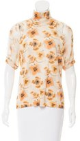 Christian Dior Wool-Blend Floral Printed Sweater