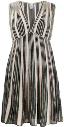 M Missoni Metallic-Striped Mini Dress
