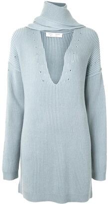 Proenza Schouler White Label Detachable Scarf Knit Jumper