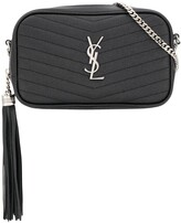 Saint Laurent Grainy Monogram Crossbody Bag