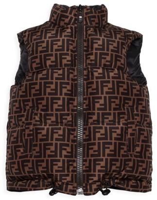 Fendi Kid's Reversible Down Puffer Vest