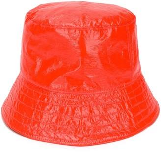 Manokhi Leather Bucket Hat