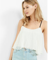 Express pleated cropped cami