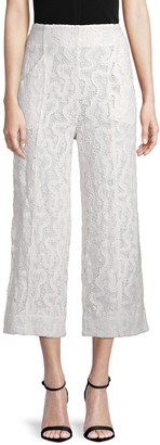 A.L.C. Elie Cropped Lace Pants