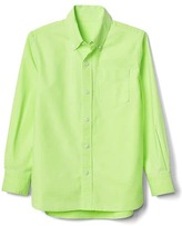 Gap Neon oxford long sleeve shirt