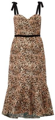 Johanna Ortiz Love Between Species Leopard-print Dress - Womens - Leopard