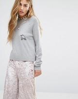 Pull&Bear Unicorn Detail Lightweight Knitted Sweater