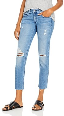 Rag & Bone Dre Low Rise Distressed Slim Boyfriend Jeans in Aviation Way