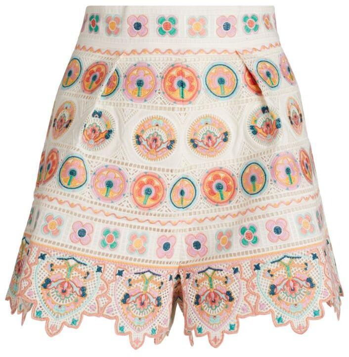 Zimmermann Embroidered Brighton Shorts