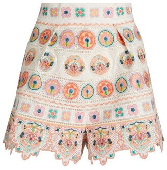 Zimmermann Embroidered Brighton Shorts