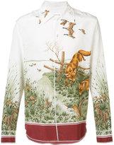 Maison Margiela foxes printed shirt - men - Silk/Cotton - 40