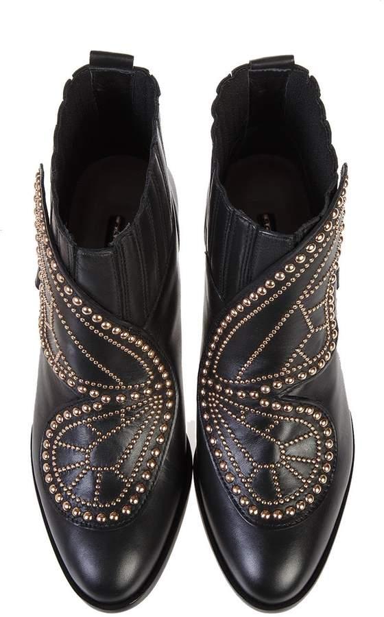 Sophia Webster Karina Embellished Leather Ankle Boots