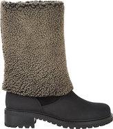 Barneys New York Women's Shearling-Cuff Gita Boots-BLACK