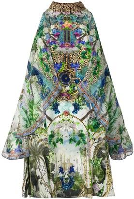 Camilla Moon Garden cold shoulder dress