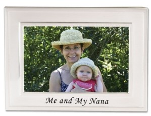 """Lawrence Frames Brushed Metal Me and My Nana Picture Frame - Sentiments Collection - 4"""" x 6"""""""